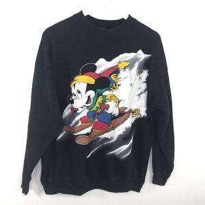 VTG Mickey Unlimited Mouse Skiing Sweatshirt XL